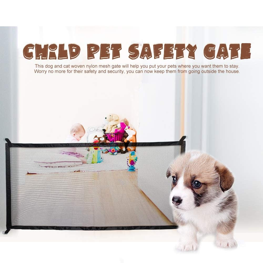 Pet fence Dog fence Gate Ingenious Mesh Dog Fence For Indoor and Outdoor Safe Dog gate Safety Enclosure Pet supplies baby gate
